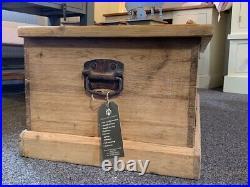 Large Antique Victorian Pine Storage/Blanket Box