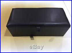 Large Brown Leather Ottoman, Toy Storage, Blanket Box And Footstool, Pouffe