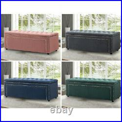 Large Chesterfield Footstool Bedroom Window Seat Ottoman Storage Box Bench Seat