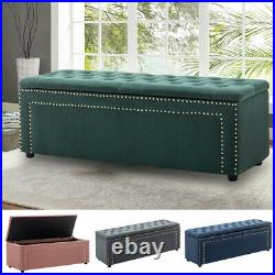 Large Chesterfield Footstool Coffee Table Pouffe Bed Bench Storage Box Ottoman
