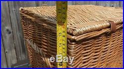 Large F&M Fortnum And Mason Wicker Hamper Storage Basket Coffee Table Chunky Box