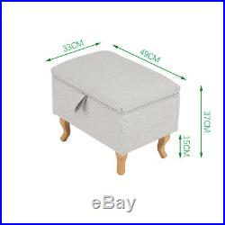Large Footstool Storage Box Unit Bench Chair Ottoman Pouffe Seat Foot Rest Stool