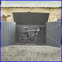 Large Galvanized Metal Steel Garden Bike Shed Tool Storage Shed Unit Bicycle Box
