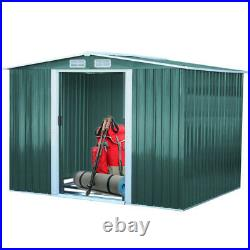 Large Garden Shed 10x8, 8x8, 6x8, 4x8, 4x6 FT Metal Storage Tool Box Container