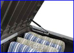 Large Garden Storage Box Patio Brown Bench Seat Tools Waterproof 570L Deck XL