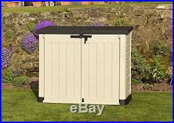 Large Garden Storage Container Shed 2 Locks Bin Box Extra Bike Mower Outside BBQ