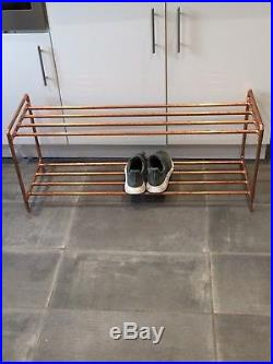 Large Handmade Copper Shoe Rack/Shoe Tidy/Box Storage/Shelving rose gold wedding