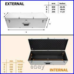 Large Hard Aluminium Flight Case Telescope Tool Box Grab Handle Storage Foam