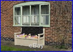 Large Keter Eden Bench Sofa Ideal Outdoor Garden Patio Storage Seat Box 265 L