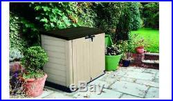 Large Keter Garden Storage Cupboard Box Store It Out Max Plastic Shed Cabinet
