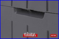 Large Keter Storage Shed Garden Outside Box Bin Tool Organiser Lockable Grey New