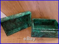 Large Malachite Jewellery Box / Trinket Box / Storage Box