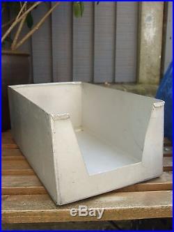 Large Metal storage rack display 12 Aluminium trays shop workshop industrial