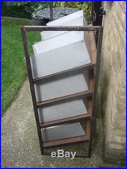 Large Metal storage rack of 12 Aluminium trays shop display Shed industrial