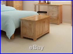 Large Oak Blanket Box Toy Storage Trunk/Chest Solid Wood Ottoman