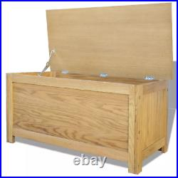 Large Oak Storage Chest Solid Wood Furniture Blanket Box Trunk Wooden Ottoman