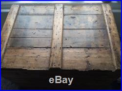Large Old Wooden Chest Storage box