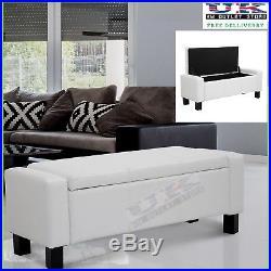 Brilliant Large Ottoman Bench Storage Box Pu Leather Window Seat Machost Co Dining Chair Design Ideas Machostcouk