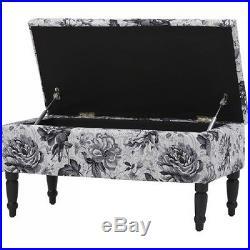 Large Ottoman Storage Seat Bench Vintage Footstool Box Hall Bedroom Furniture