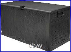 Large Outdoor Garden Patio Storage Box Luxury Big Size 460L Rattan Weatherproof