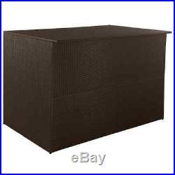 Large Outdoor Garden Storage Box Poly Rattan Chest Cushion Box Furniture Patio