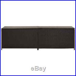 Large Outdoor Garden Storage Utility Chest Cushion Rattan Box Case 200x50x60 cm