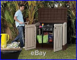 Large Outdoor Plastic Garden Storage Patio Bike Wheelie Bins Waterproof Shed Box