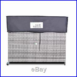 Large Outdoor Storage Box in Small Grey Rattan by Club Rattan