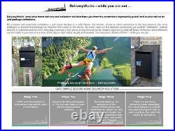 Large Parcel Box for Home Collect & Delivery, Electronic Lock, Web/App Enabled