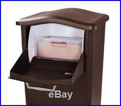 Large Parcel Drop Box Locking Mailbox Package Postal Post Bronze Mail Storage