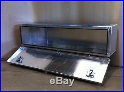 Large Plain Aluminium chassis level storage truck box