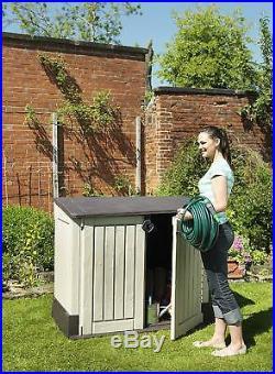 Large Plastic Garden Storage Box Outdoor Patio Bike Wheelie Bins Waterproof Shed