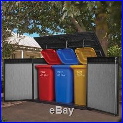 Large Plastic Garden Tools Shed Outdoor Patio Box Recycle Bin Store Bike Storage