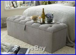 Large Premium Quality Ottoman, Toys Storage, Blanket Box, Footstool
