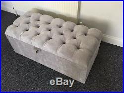 Large Premium Quality Ottoman, Toys Storage, Footstool, Blanket Box