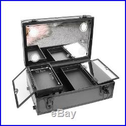 Large Rechargeable Light up Storage Beauty Box MakeUp Trolley Case with USB Port