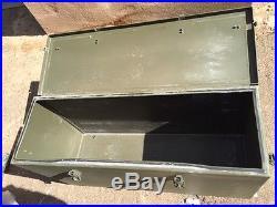 Large Set of Heavy Duty Aluminium Armoured Vehicle Storage Box C/W Fixings etc