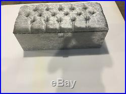 Large Silver Crushed Velevt Ottoman, Toys Storage, Blanket Box, Footstool