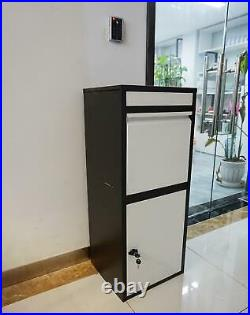 Large Smart Parcel Box Lockable Package Delivery Letter Post Storage Drop Box