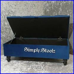Large Soft Velvet Ottoman, Toys Storage Footstool, Blanket Box, Coffee Table