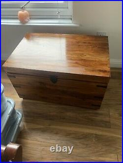 Large Solid Wooden Storage Chest Box Used
