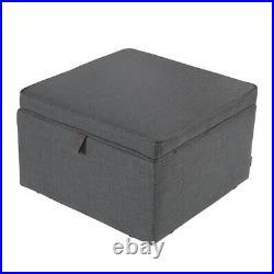 Large Square Ottoman Pouffe Stool Large Storage Box Footstool Coffee Table Stool