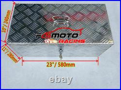 Large Storage Aluminum Tool Box Chequer Plate Site Chest Van Truck Lorry Pick up