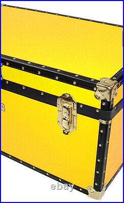 Large Storage Box, John Lewis 173L Traditional Storer Trunk, Yellow