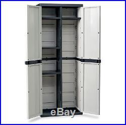 Large Storage Cabinet Garden Garage House Shed Patio Sturdy Plastic Box