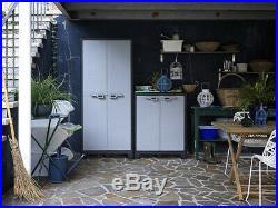 Large Storage Cabinet Xl Tools Box Garage Heavy Duty Indoor/Outdoor Locker New