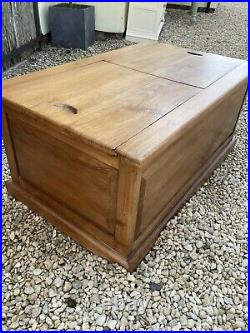 Large Teak Blanket Box / Coffee Table With Storage / Toy Chest