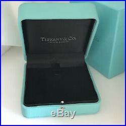 Large Tiffany & Co Blue Leather Necklace Presentation Storage Gift Box