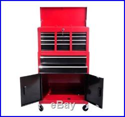 Large Tool Box Drawers Wheels Storage Heavy Duty Metal Rolling Chest Cabinet New