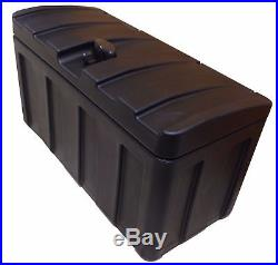 Large Transport Box Plastic Robust Spacious Tool Utensils Storage Trailer Chest